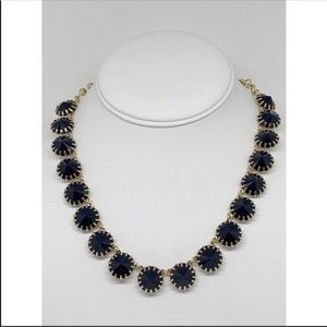 J. Crew Navy Blue Venus Flytrap Necklace